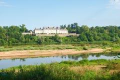 Château sur la卢瓦尔河 免版税库存照片