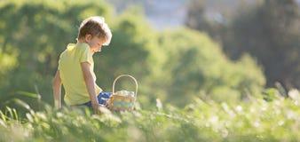 Chłopiec przy Easter czasem zdjęcie royalty free