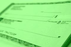 Chèque bancaire Photos stock