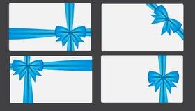 Chèque-cadeau avec l'illustration de vecteur d'arc Images stock