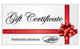 Chèque-cadeaux. Foto de archivo libre de regalías