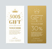Chèque-cadeaux con los regalos ilustración del vector