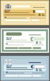 Chèque de banque photos stock