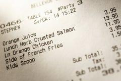 Chèque de papier de café Image libre de droits