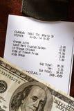 Chèque de papier de café Photo stock