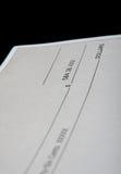 Chèque en les dollars américains Image stock