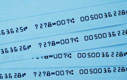 Chèques bancaires Photos libres de droits