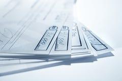 Chèques bleus Photo stock