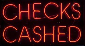 Chèques encaissés Photographie stock