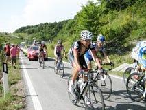 chèques postaux Italie de 2009 cyclistes d Image libre de droits