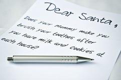 Chère lettre de Santa Photographie stock libre de droits