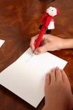 Chère lettre de Santa photo stock