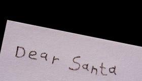 Chère Santa d'isolement sur le noir Photographie stock