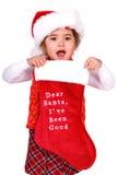 Chère Santa, j'ai été bon. Photo libre de droits
