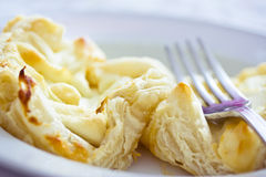 Chèvre cheese puff pastry cakes. Example of French recipes with chèvre cheese Stock Photography