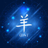 Chèvre chinoise de signe de zodiaque Photographie stock libre de droits
