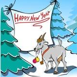 Chèvre de Noël Images libres de droits