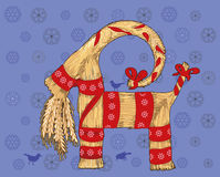 Chèvre de Noël Image libre de droits