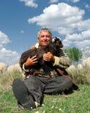Chèvre de Sheepman et de gosse Photos libres de droits