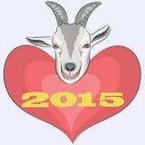 Chèvre de vecteur Photos stock