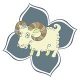 Chèvre de zodiaque chinois Image stock