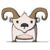 Chèvre drôle de bande dessinée Illustration de vecteur Photographie stock libre de droits
