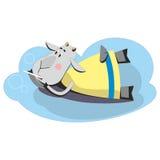 Chèvre faisant les bulles de savon 02 Image libre de droits