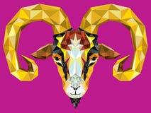 Chèvre géométrique de modèle Illustration de vecteur Astrologica chinois Photo stock
