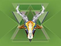Chèvre géométrique de modèle Illustration de vecteur Astrologica chinois Photographie stock libre de droits