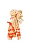 Chèvre traditionnelle finlandaise de paille de Noël Image libre de droits