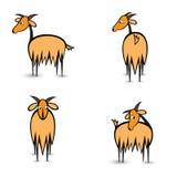 Chèvres de l'abstrait quatre dans différentes positions Photographie stock