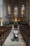 Chéri à l'église collégiale de rue Martha, Tarascon photos stock