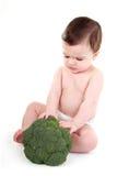 Chéri éloignant le broccoli Photographie stock