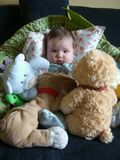 Chéri avec des jouets Images stock