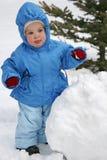 Chéri avec la boule de neige Photos libres de droits