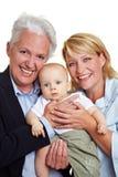 Chéri avec la famille Photos libres de droits