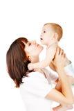 Chéri avec la mère images stock