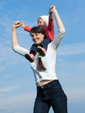 Chéri avec la maman Photo libre de droits