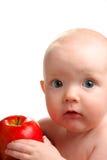 Chéri avec la pomme Photographie stock libre de droits