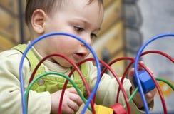 Chéri avec le jouet Images libres de droits
