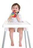 Chéri avec le lollypop Photos libres de droits