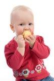 Chéri avec une pomme Image libre de droits