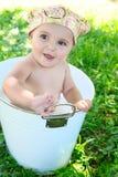 Chéri bath photo libre de droits