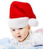 Chéri dans des chapeaux de Noël photos stock