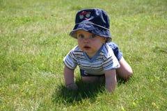 Chéri dans l'herbe 2 Image libre de droits