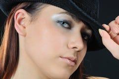 Chéri dans le chapeau Image stock