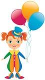 Chéri de clown Images libres de droits