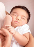 Chéri de sommeil mignonne Image stock