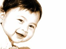 Chéri de sourire mignonne Images libres de droits