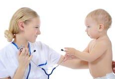 Chéri et docteur Image stock